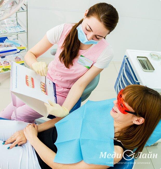 Удалить налёт с зубами